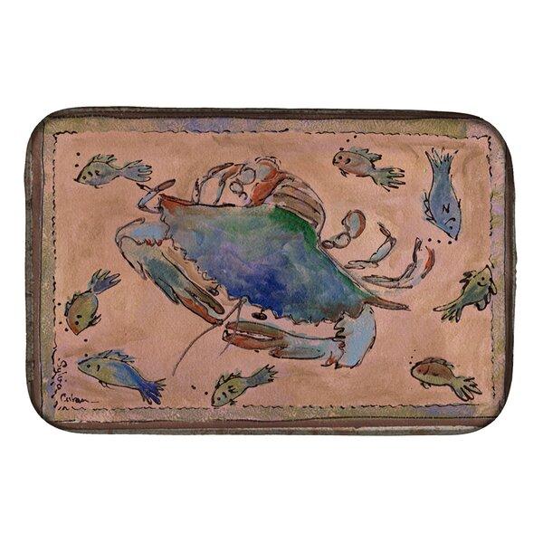 Crab Dish Drying Mat by Caroline's Treasures