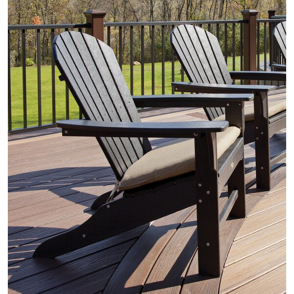 Trex Trex Outdoor Cape Cod Adirondack Chair With Cushion U0026 Reviews | Wayfair