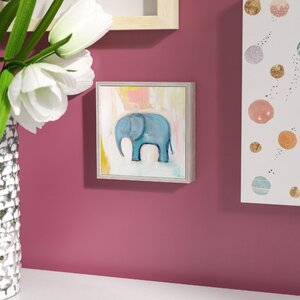 Camille 'Blue Elephant' by Creative Thursday by Marisa Framed Painting Print on Canvas by Viv + Rae