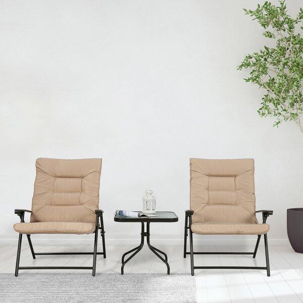 Pallesen 3 Piece Bistro Set with Cushions