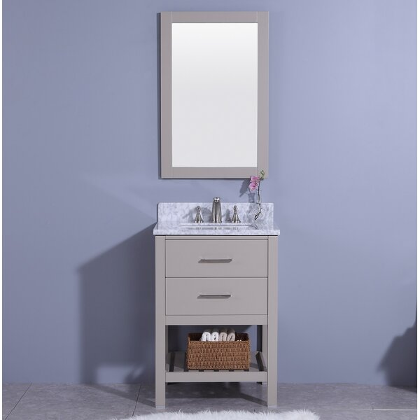 Marhill 25 Single Bathroom Vanity Set with Mirror by Breakwater BayMarhill 25 Single Bathroom Vanity Set with Mirror by Breakwater Bay