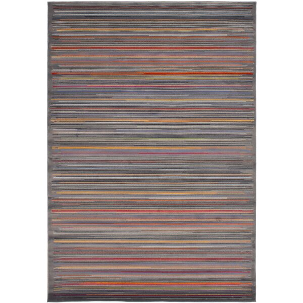 Maclean Dark Gray/Red Area Rug by Latitude Run
