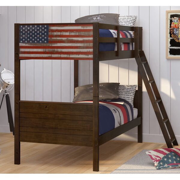Bearfield Twin over Twin Bunk Bed by Harriet Bee