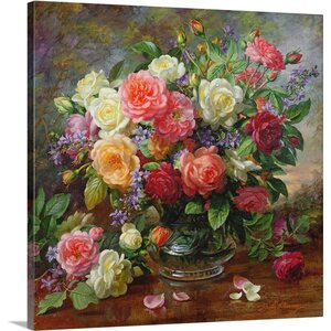 'Roses - the Perfection of Summer' by Albert Williams Painting Print on Wrapped Canvas by Great Big Canvas