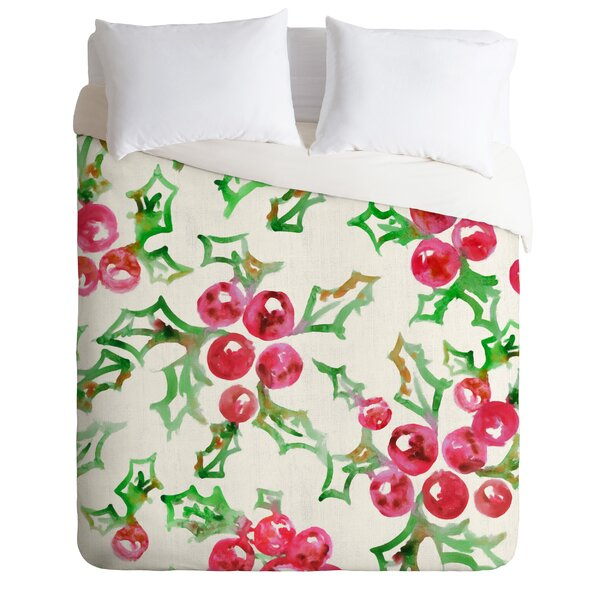 MA ONLINE Christmas Stag Check Printed Pillow Case Quilt Cover Set Luxury Xmas Bedding Purple Double