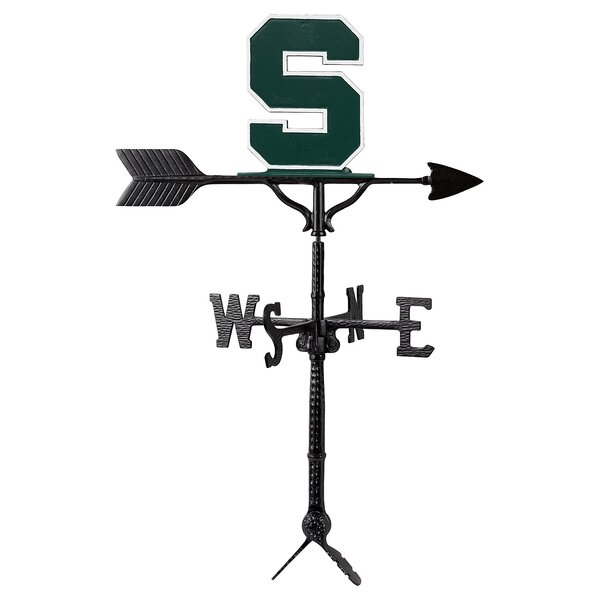 Michigan State Block S Logo Weathervane by Montague Metal Products Inc.