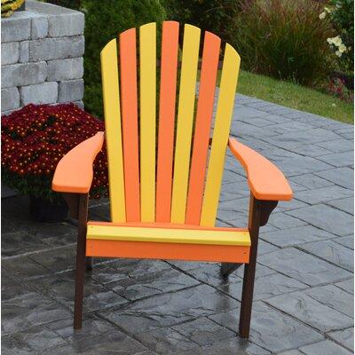 Carignan Fanback Plastic Adirondack Chair August Grove