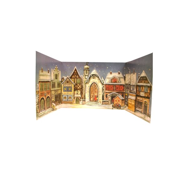 1946 Village Square Advent Calendar by Alexander Taron