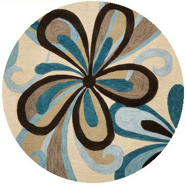 Satsuma Hand-Tufted Sand/Teal Area Rug by Latitude Run