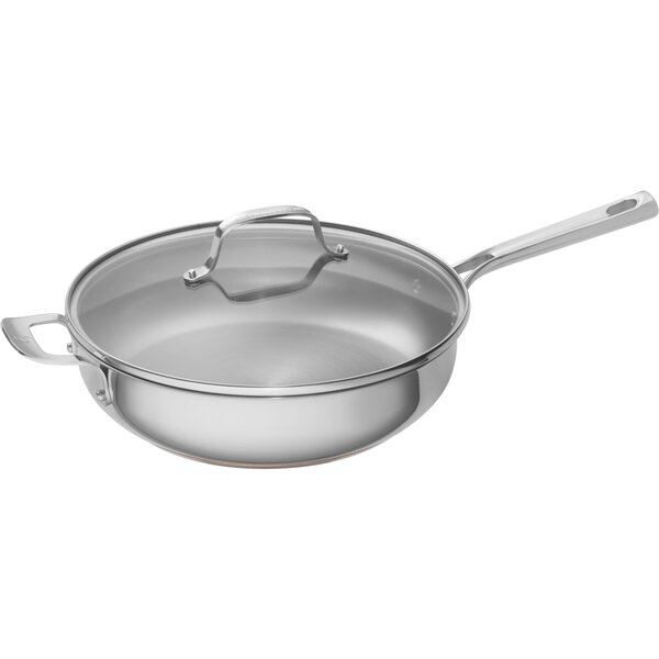 5 qt. Stainless Steel Copper Core Covered Deep Sauce Pan with Lid by Emeril Lagasse