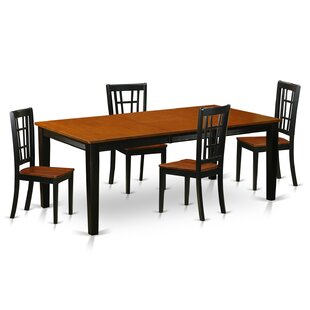 Pilger Contemporary 5 Piece Dining Set By August Grove