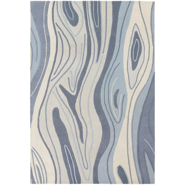Yaning Blue Area Rug by Orren Ellis