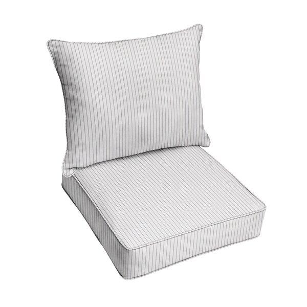 Scale Cloud Indoor/ Outdoor Sunbrella Seat Cushion (Set of 2)