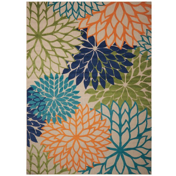 Nathalie Cream Indoor/Outdoor Area Rug by Zipcode