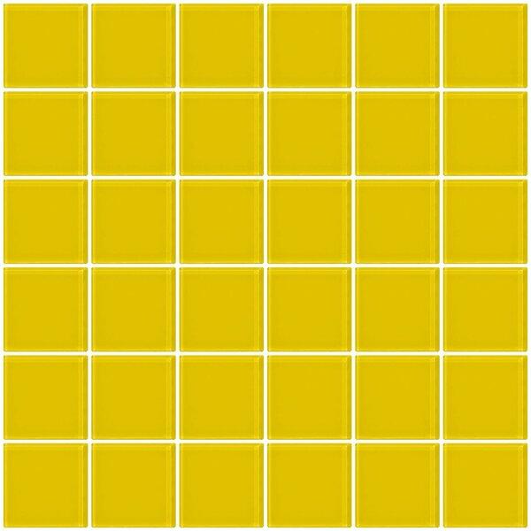 Bijou 22 2 x 2 Glass Mosaic Tile in Bright Yellow by Susan Jablon