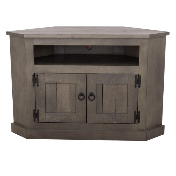 Review Dunstable Solid Wood Corner TV Stand For TVs Up To 60