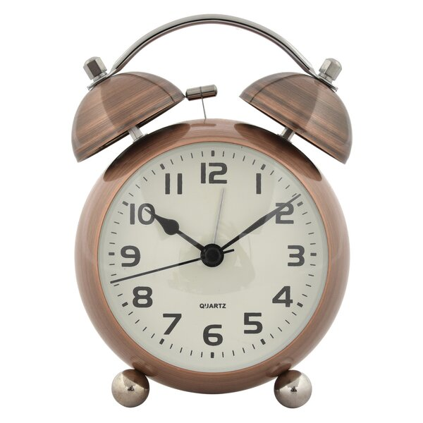 Metal Alarm Tabletop Clock by Charlton Home