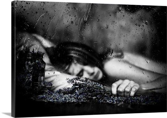 Purple Rain Photographic Print on Canvas by Canvas On Demand