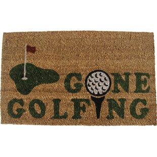 Genial Gone Golfing Doormat