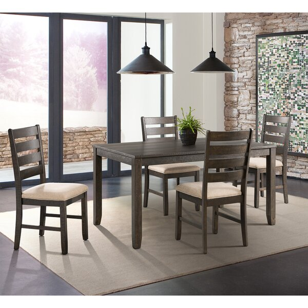 Rushton 5 Piece Solid Wood Dining Set by Gracie Oaks