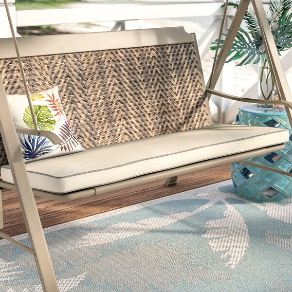 Piped Indoor/Outdoor Sunbrella Bench Cushion by Beachcrest Home