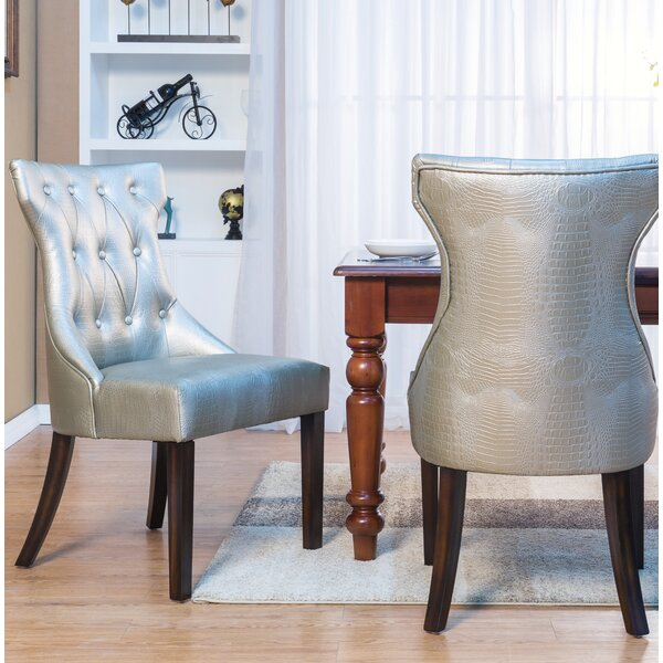 Delfin Button Upholstered Dining Chair (Set of 2) by Darby Home Co