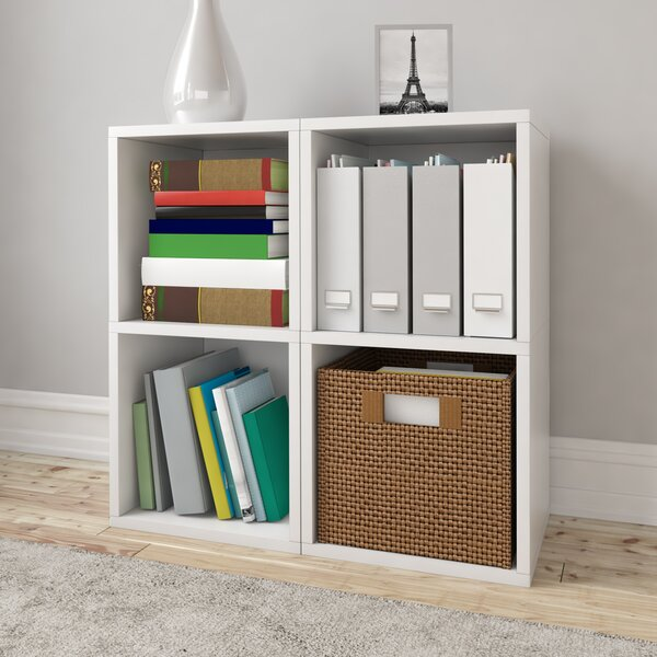 Best Reviews Virginis Vinyl Record Cube Bookcase by Ebern Designs