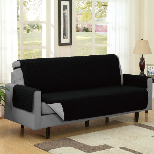 Reversible Quilted Box Cushion Sofa Slipcover by Symple Stuff