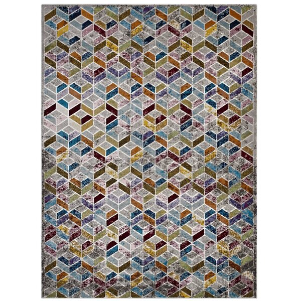 Edmore Gray/Purple Area Rug by Brayden Studio
