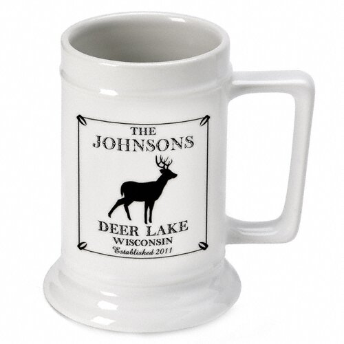 Personalized Gift Cabin Series Stein Mug 16 oz. Ceramic Pint Glass by JDS Personalized Gifts