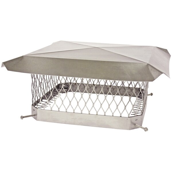 Single-Flue Stainless Steel Chimney Cap by Shelter Pro
