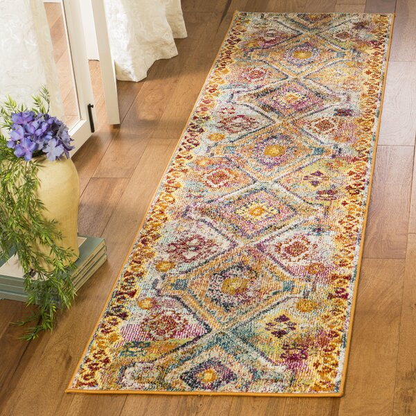 Mcintosh Yellow Area Rug  by Bloomsbury Market