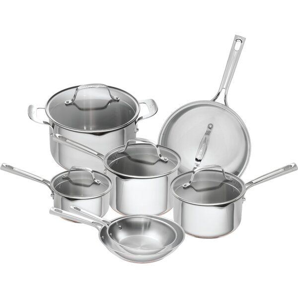 12 Piece Stainless Steel Copper Core Cookware Set by Emeril Lagasse