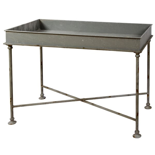 Galvanized Tray Table by Winward Silks