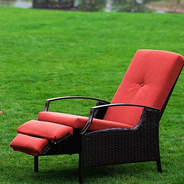 Feldt Reclining Chaise Lounge with Cushion by Ebern Designs