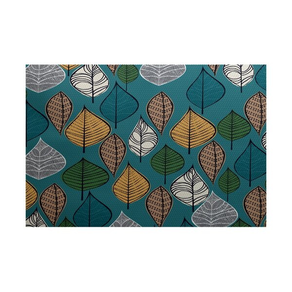 Avalos Teal Indoor/Outdoor Area Rug by Ivy Bronx
