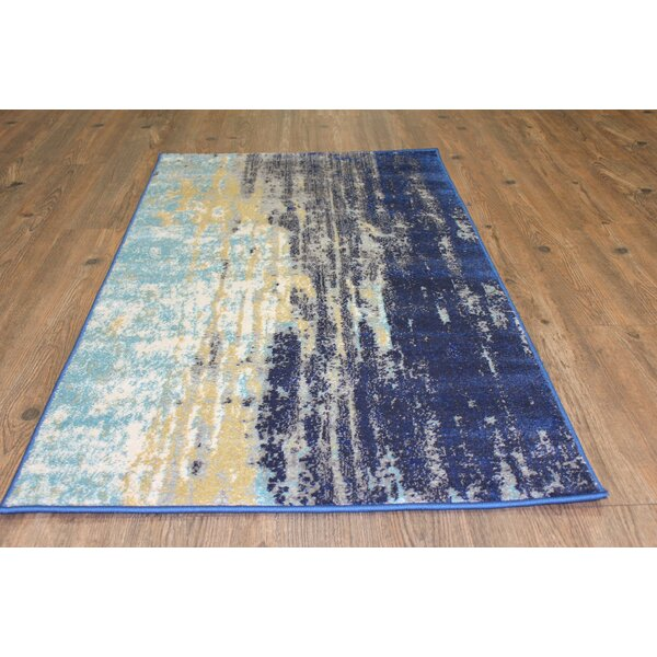 Fusion Yellow/Blue Indoor/Outdoor Area Rug by Rug Factory Plus