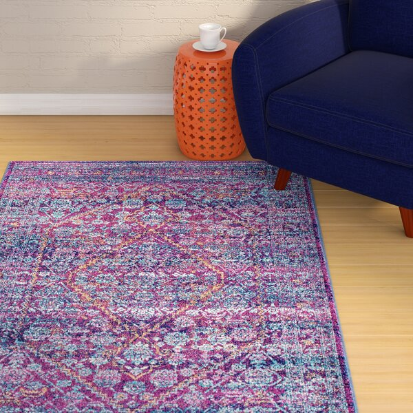 Daveney Purple Area Rug by Mistana