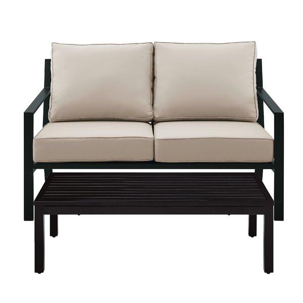 Timpano 4 Piece Deep Seating Group with Cushions by Latitude Run