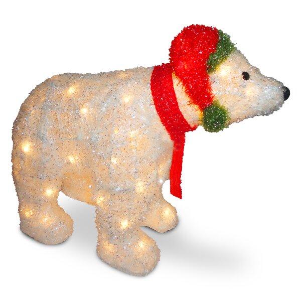 Decorative Décor 3D Polar Bear Christmas Decoration by The Holiday Aisle