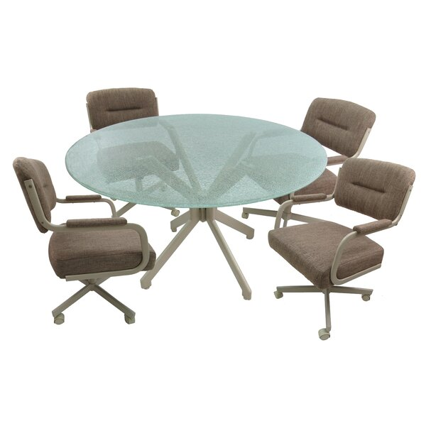 Pinank Caster 5 Piece Dining Set by Ebern Designs