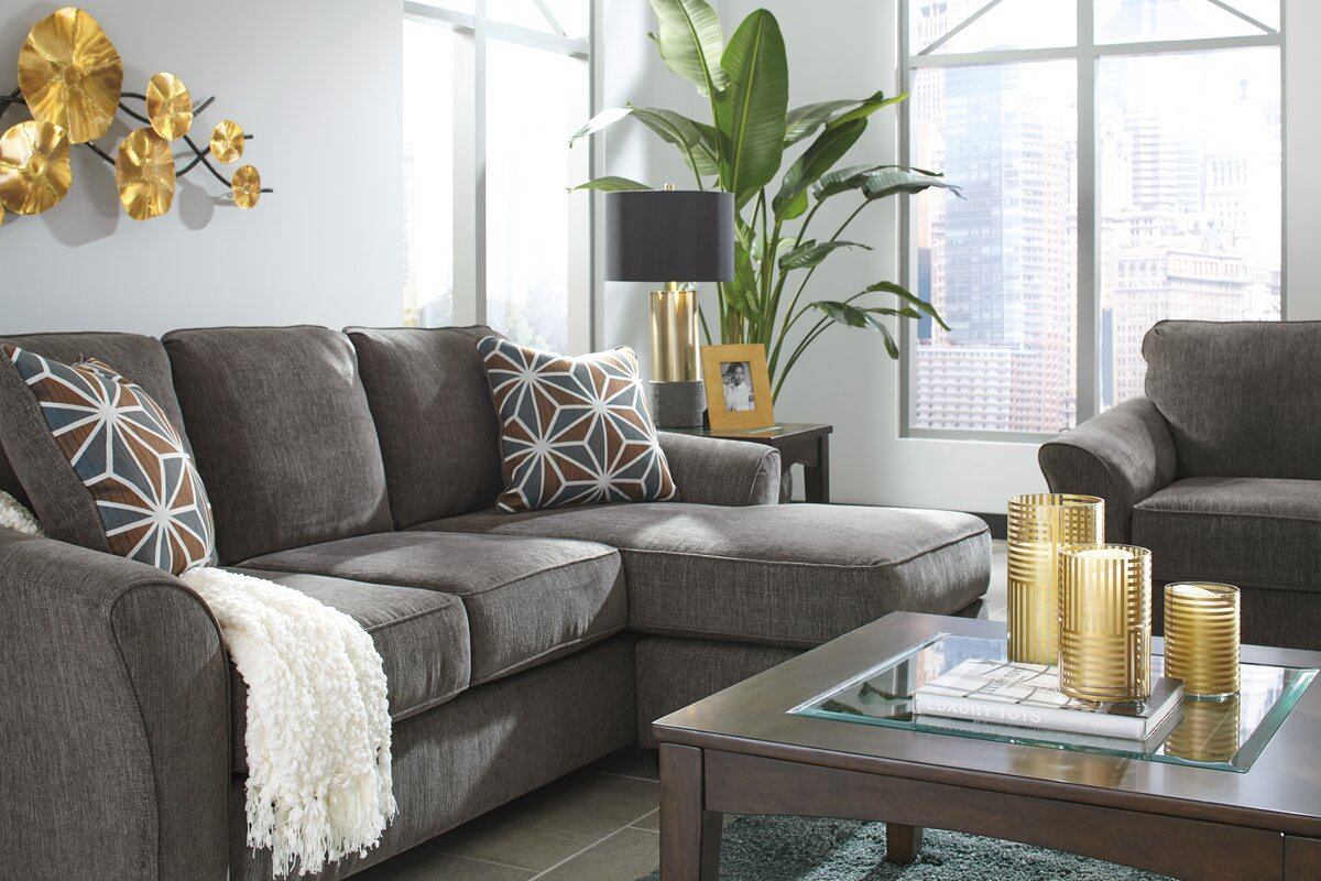benchcraft brise sofa chaise sectional reviews wayfair