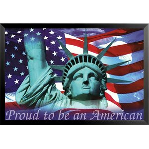 'Proud to Be An American' by Mitchell Funk Framed Graphic Art by Buy Art For Less