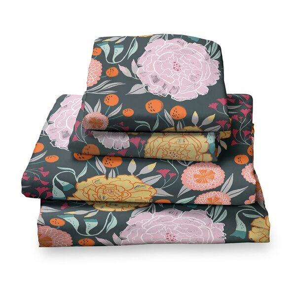 Detrick Floral Sheet Set by Harriet Bee