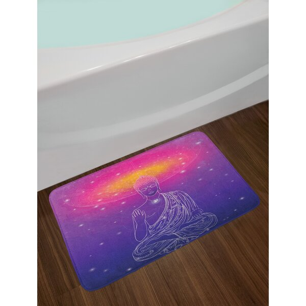 Tribal Violet Fuchsia Psychedelic Bath Rug by East Urban Home