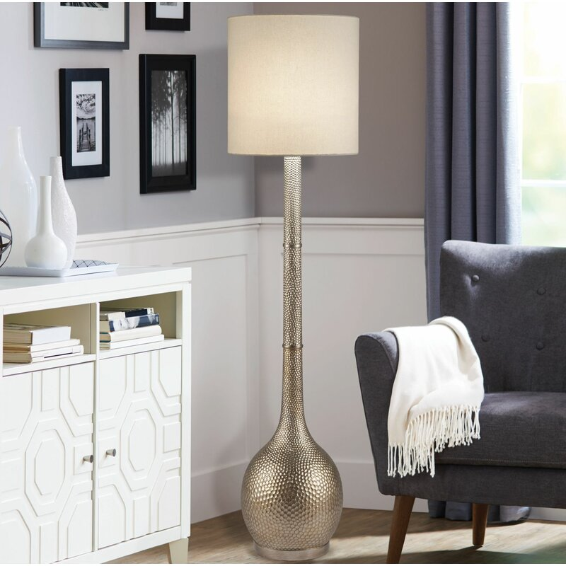 "Odelia 60.5"" Floor Lamp by Ebern Designs"