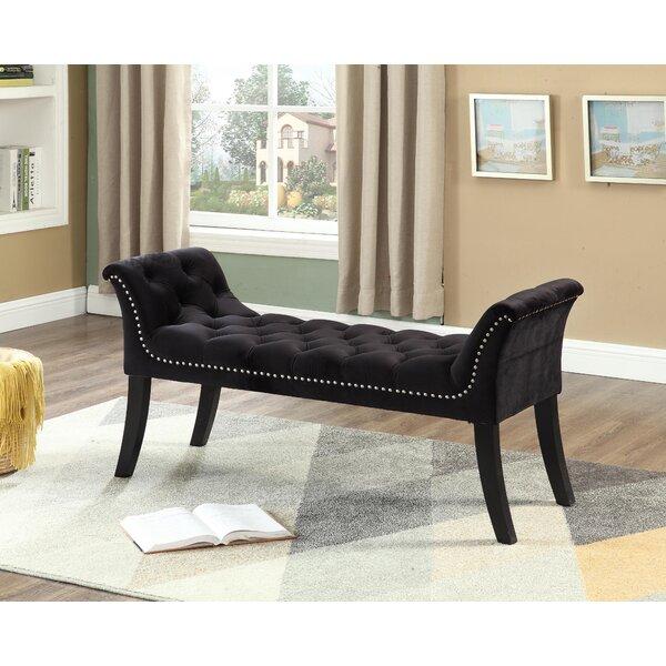 Yogyakarta Button-Tufted Upholstered Bench by Mercer41 Mercer41