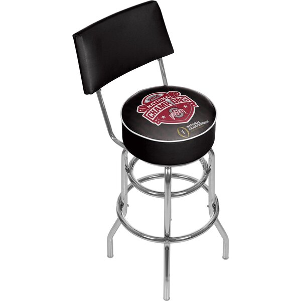 Ohio State University 31 Swivel Bar Stool by Trademark Global