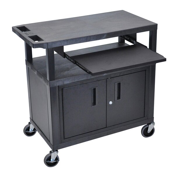 3 Flat Shelf AV Cart by Offex