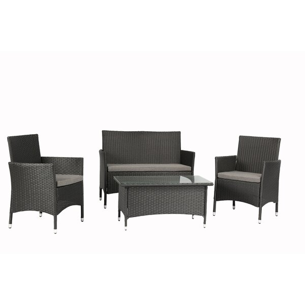 Patmos 4 Piece Sofa Seating Group with Cushions by Sol 72 Outdoor